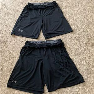 Men's Size Large Under Armour Shorts (2 pairs)